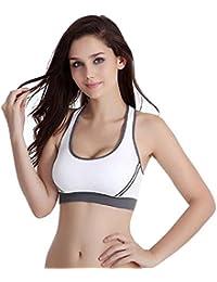 Sport BH HARRYSTORE Mujer sosténes deportivas y elástico de yoga Ropa interior Push Up Camisetas sin mangas para correr Fitness