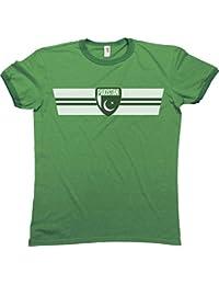 Mens PAKISTAN RETRO STRIP Patriotic Ringer T-Shirt Camiseta Para Hombre