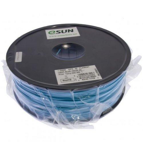 esun Imprimante 3D Filament Hips 1,75mm 1kg Bleu clair