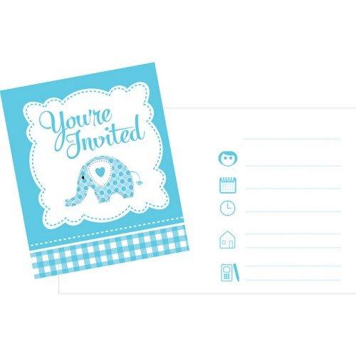Creative Party - Invitaciones para fiestas diseño elefantes (Paquete de 8) (Talla...