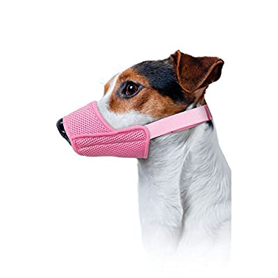 GROOM PROFESSIONAL Padded Air Mesh Muzzle, Medium, Baby Pink from Groom Professional