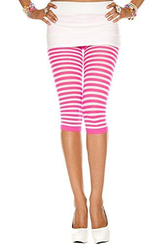 Preisvergleich Produktbild Music Legs Gestreifte Leggings - pink/weiß