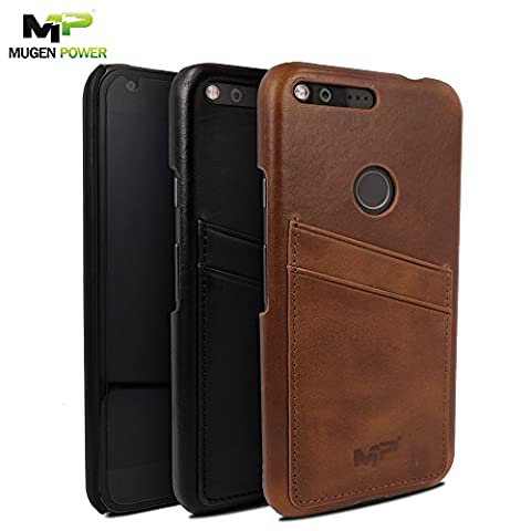 Google Pixel XL Real Leather Case, Mugen Power [Classic Series]
