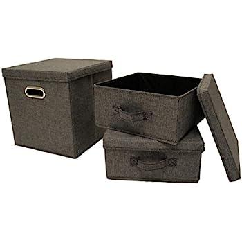 ordnungsboxen violett 3er set aufbewahrungsbox stoff aufbewahrungskorb mit deckel faltbar. Black Bedroom Furniture Sets. Home Design Ideas