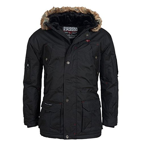 Geographical Norway ATLAS 1 MEN Eskimo Giacca Parka Nero per Uomo