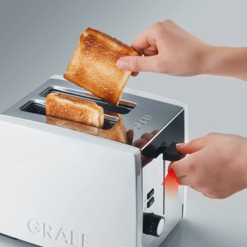 Graef Acrylic 2 Slot Toaster, White