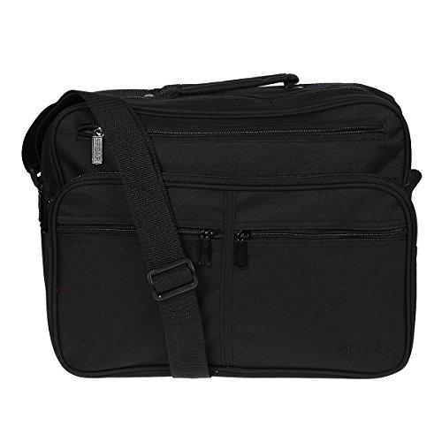 Herrentasche 949 Umhängetasche Allzwecktasche, Handyfach, extra RV-Rückfach schwarz ca.37,0 x 28,0 x20,0 cm - Rv Ca Und