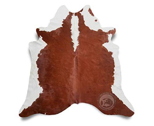 Sunshine Cowhides Teppich aus Kuhfell, Farbe: Hereford Braun & Weiß, Größe Circa 220 x 200 cm HF1, Premium - Qualität von Pieles del Sol aus Spanien.