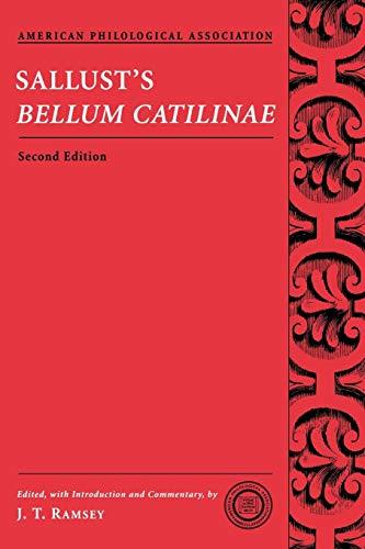Sallust's Bellum Catilinae (Society for Classcial Studies Texts & Commentaries) por Sallust