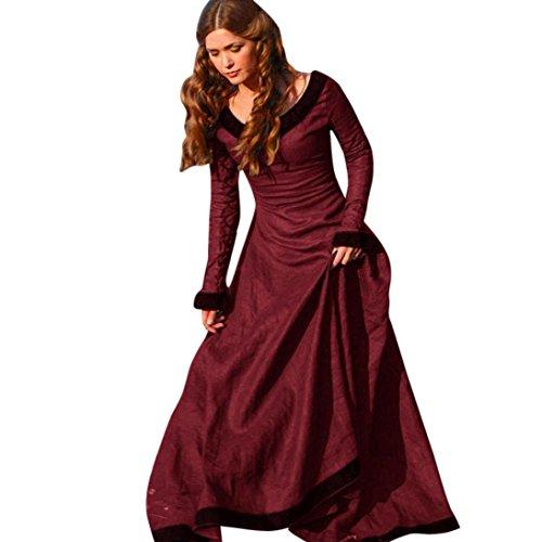 317f02c53e68 Vestito medievale donna Vovotrade Costume Cosplay Principessa Vestito  gotico rinascimentale (S