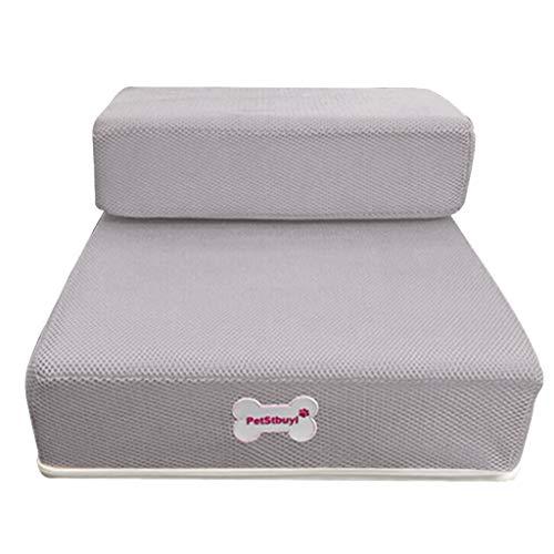 MCYs Atmungsaktives Mesh Faltbare Pet Treppen Abnehmbare Pet Bett Treppe Hunderampe 2 Schritte Fleece-mesh Pullover