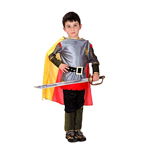 NiQiShangMao M ~ XL Neue 2019 Römische Krieger Ritter Kinder Cosplay Halloween Party Boy Prince King Kinder Kostüme Maskerade - Warrior King Kostüm Kind