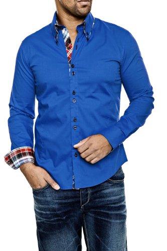 Carisma Langarmhemd - in vielen Farben Blau