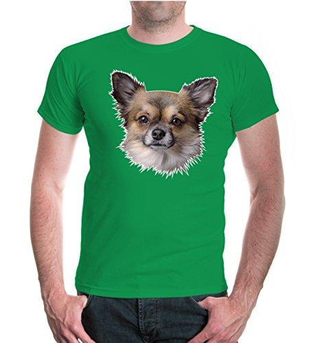 buXsbaum® T-Shirt Chihuahua-Face Kellygreen-z-direct