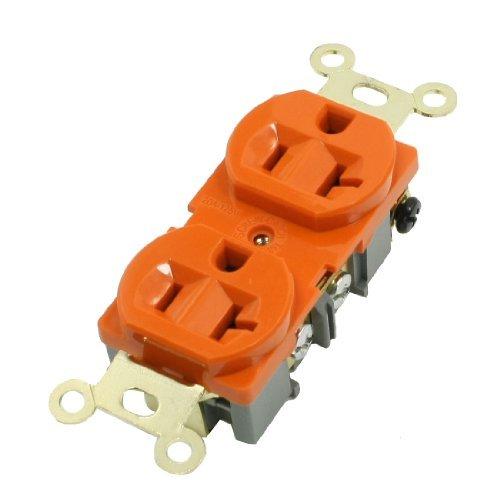 DealMux Industrial Outlet Stecker Spec Grade 20A orange Duplex-Steckdose 125V -