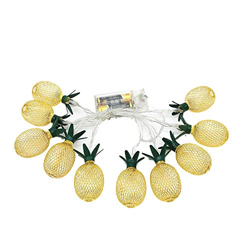 Modische Ananas LED Lichterkette, Ananas Led Lichter String Weihnachten Lampe Dekorationen Xmas Party Home Decor (Gold)