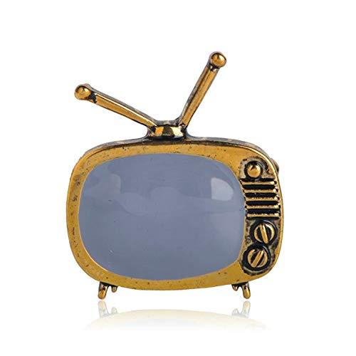 Seraphis Klassische Vintage TV Brosche Gold Emaille Broschen Revers Pin Schal Kleid