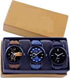 LEVERET Analogur Unique Men's Club Combo Pack of 3 Watches