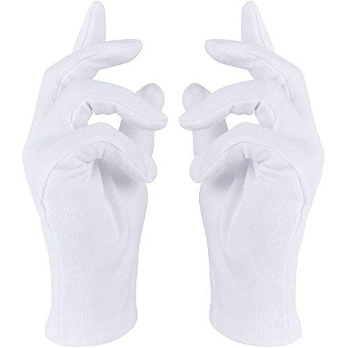 Weiße Handschuhe in Einheitsgröße mit Biesen