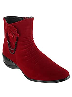Shuz Touch Women's Red Boots (36)