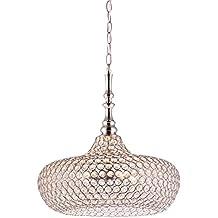 Lámpara colgante, cristal máximo brillo y acabado cromo | admite LED | Excelente acabado