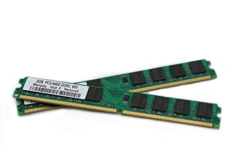 Preisvergleich Produktbild 4GB 2x 2Gb Ram Speicher DDR2 800 Mhz für Abit Fatal1ty F-I90HD, FP-IN9 SLI, I-45C