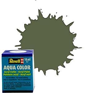 Revell 36361 Aqua Color - Pintura acrílica Mate Sedoso (18 ml), Color Verde Oliva