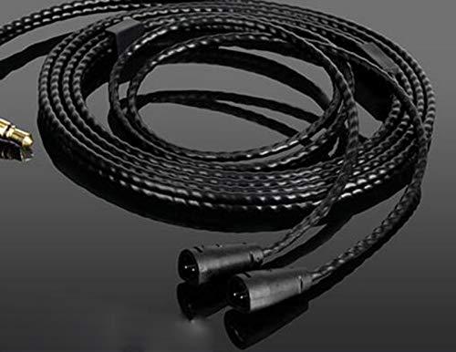 Micity Câble de Rechange pour Casque Sennheiser IE8 IE80 IE8I IE80S 2,5 mm Noir