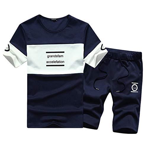 b908fa0da1 Homebaby 2pcs Tuta Sportiva Estive T-Shirt Manica Corta da Uomo +  Pantaloncini Eleganti Vintage
