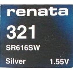 2 Piles Renata SR616SW 321 mercure Pile oxyde d'argent pour montre 1,55 V
