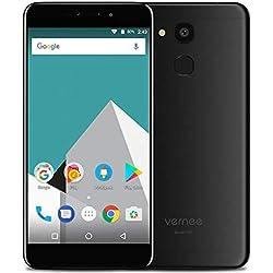 4G Téléphone Portable Débloqué Pas Cher Vernee M5, Double SIM Smartphone 5,2 Pouces Android Texture en métal & Ultra-Mince (6,9 mm)- Octa-Core 4Go + 64Go, 8MP + 13MP, 3300mAh, GPS + GLONASS Noir
