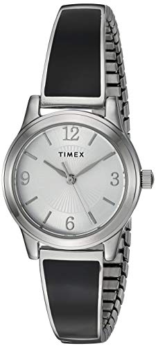 Timex Women's TW2R98400 Stretch Bangle 25mm Blush/Rose Gold-Tone Expansion Band Watch