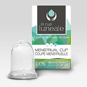 Coupe menstruelle ergonomique Luneale - design breveté sans tige - Made in France - Taille S (flux faible à moyen / 20ml)