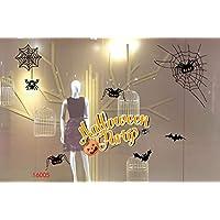 MIMOO Diseño Divertido Etiquetas engomadas de la Ventana de Halloween decoración calcomanía Feliz Halloween Arte Etiqueta Bar Fiesta de Vidrio Pegatinas estáticas ( Color : 16005 )