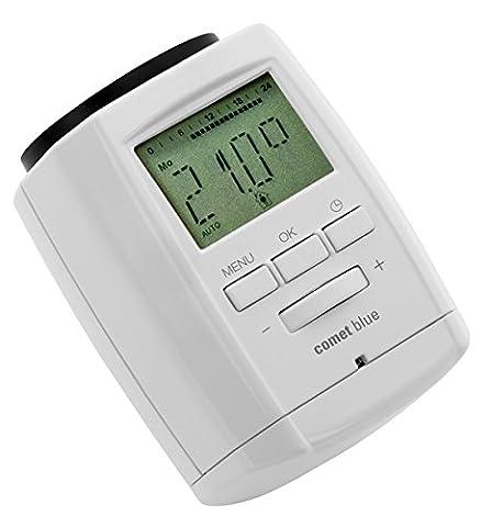 Eurotronic Comet Blue Thermostat; Bluetooth Heizkörperthermostat / App gesteuert; Kopf Thermostat - kompatibel mit Android / Iphone -