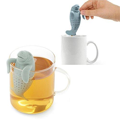Bluelover Silikon-Seelöwen Locker Teesieb Blatt Infuser Diffusor Filter Tee Diffusor, Tasche