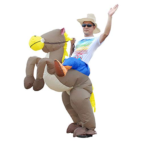 Halloween aufblasbares Pferd Kostüm Anime Performance Cosplay Kostüm für Erwachsene Kinder wählen (Zwei Pferd Kostüm)