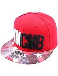 Snapback Ymcmb Rouge avec drapeau vintage sur la visière - Mixte