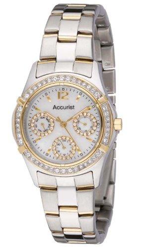 Accurist LB1644P - Reloj de cuarzo para mujeres, color plata