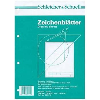 technische Zeichenblätter Schleicher/&Schuell Normschriftfeld 2 Blöcke karo