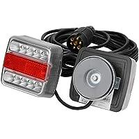 ECD Germany LED Kit de iluminación para Remolque LED Luces traseras para Remolque 12V - Cableado con 7 Polos Plug - 14 LED para lámpara