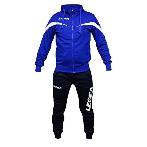 Perseo Sport Tuta Uomo Legea T110 Allenamento Fitness Calcio Tempo Libero - Tracksuite Men's Legea T093 Training Fitness Free Time ... (L, Azzurro/Blu)