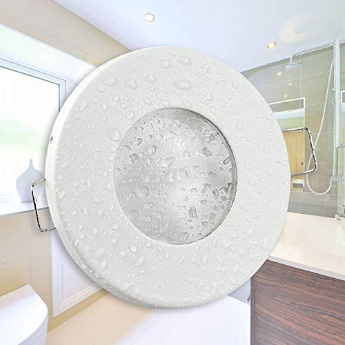 Trano Spot LED encastrable Ultra Plat 230 V - Convient pour Salle de Bain, extérieur IP65 - Design élégant, transformateur intégré - 60 mm de diamètre - Spot Rond Kaltweiß - Weiß - 7 Watt