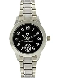 Swiss Grand SG-1160 Silver Coloured With Silver Stainless Steel Strap Analog Quartz Watch For Women