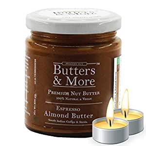 Butters & More Keto Espresso Almond Butter with South Indian Coffee & Natural Stevia Extract (200G) with a Surprise Diwali Gift!