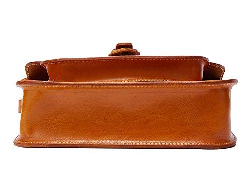 Genda 2Archer Sacchetto di Cuoio Vera Dell'imbracatura Moda Borsa a Tracolla per le Donne (24.5cm* 7.5 cm* 17cm) (Caffè) Giallo-Marrone