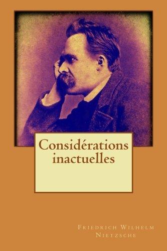 Considrations inactuelles