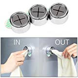 Eqosun® Sonderedition|praktischer Handtuchhalter mit Selbstklebender 3M Klebefläche|versetzbar ohne Rückstände (3er Pack) -
