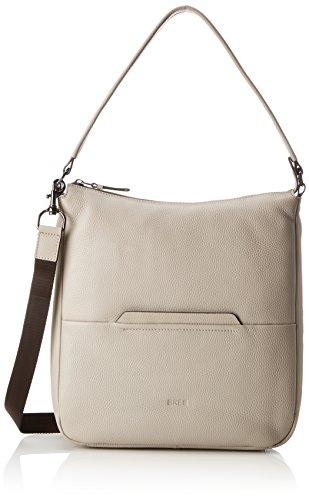 BREE Damen Faro 5, Vintage Khaki, Hobo S18 Schultertasche, Grau, 11x34x32 cm -