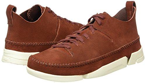 Clarks Originals Trigenic Flex, Herren Sneakers, Braun (Nut Brown Suede), 44 EU (9.5 Herren UK) -